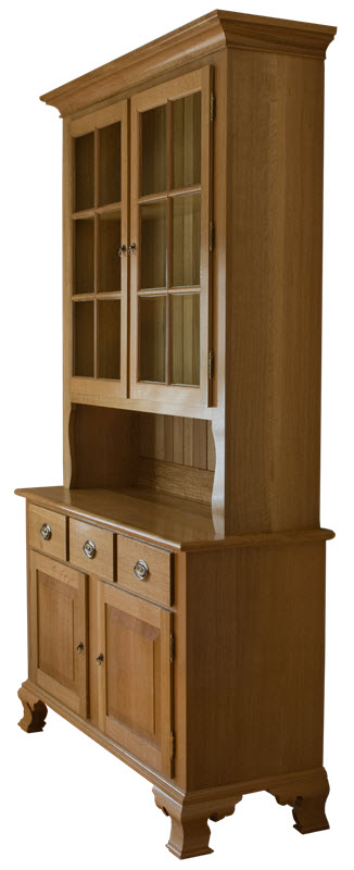 Six Pane Oak Hutch