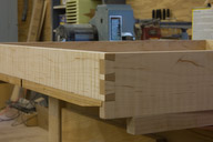 Completed through dovetails and beveled bottom