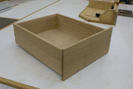 Drawer inside with white oak front and birch body.