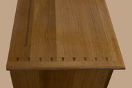 Base top showing the hand sawn dovetails.