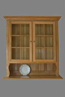 Six Pane Oak Hutch Cupboard
