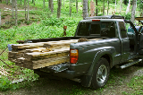 My truck with approximately 200 bd ft of walnut.